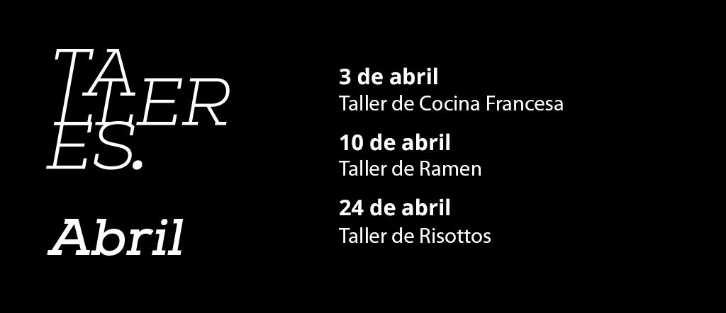 calendario talleres abril