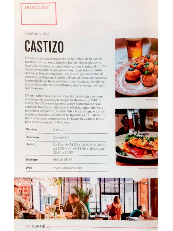 Selección. Restaurante Castizo