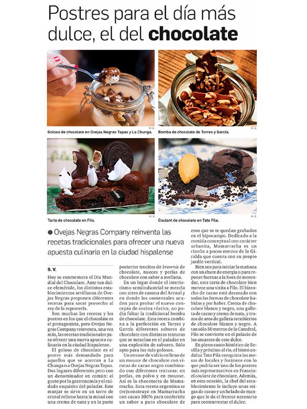 Postres para eldía más dulce, el del chocolate.