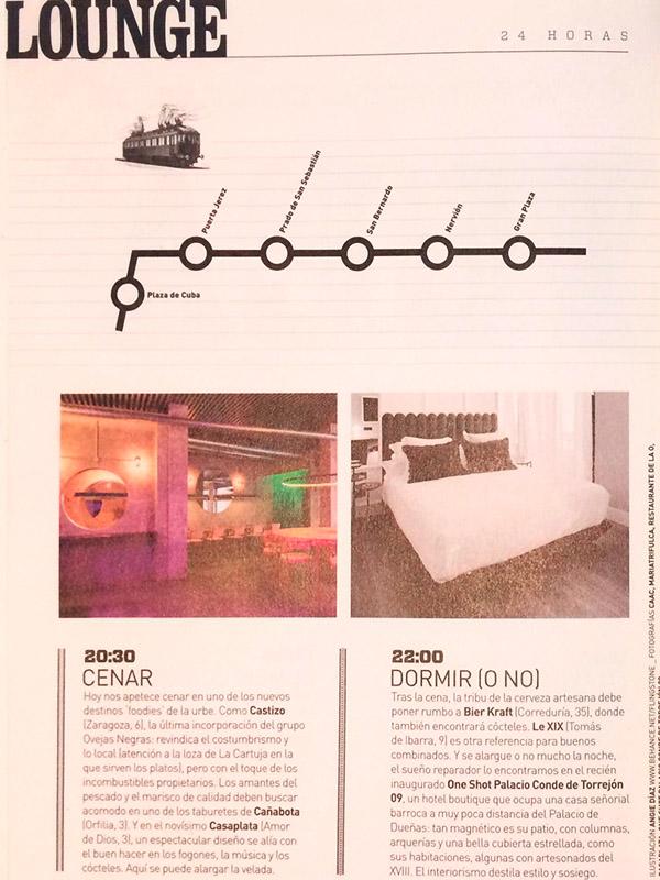 Lounge. ¿Dónde cenar y dormir (o no)?