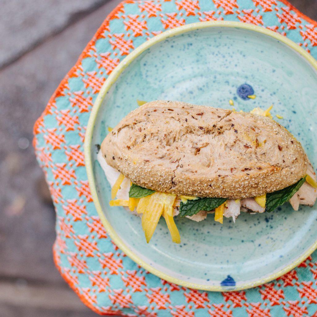 sandwich mango filo