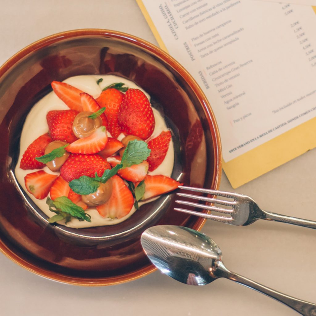 fresas con nata castizo