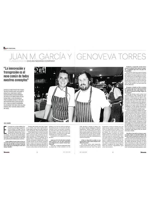 Juan M. García y Genoveva Torres. Fundadores de Ovejas Negras Company