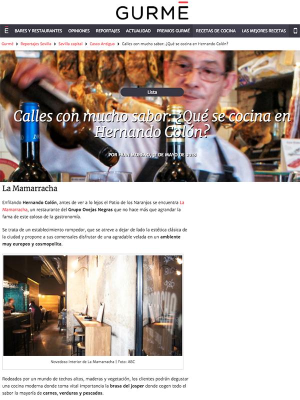 La Mamarracha. Calles con mucho sabor: ¿Qué se cocina en Hernando Colón?