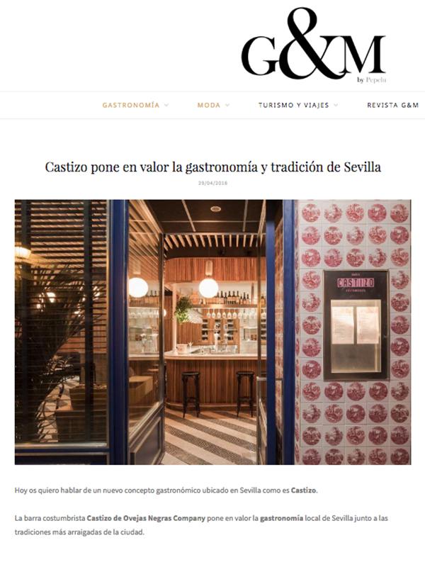 Castizo pone en valor la gastronomía y tradición de Sevilla.