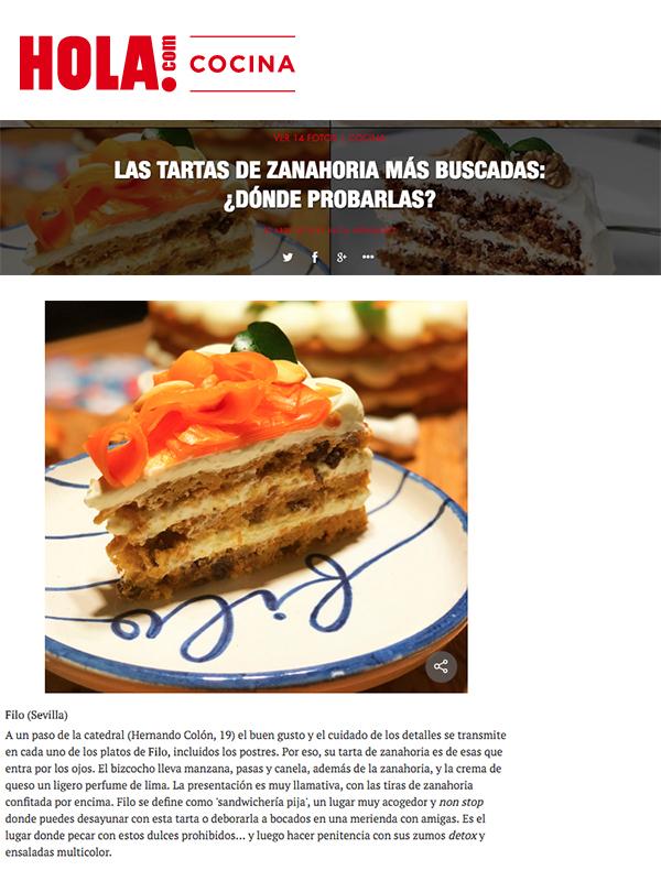 Las tartas de zanahoria más buscadas: ¿dónde probarlas? Hola.com Cocina