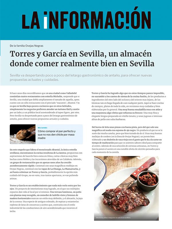 Torres y Garcia La informacion